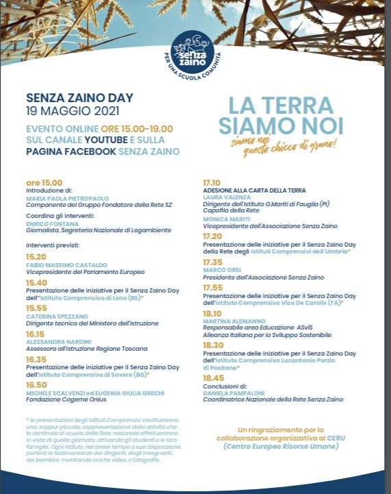 senza zaino day